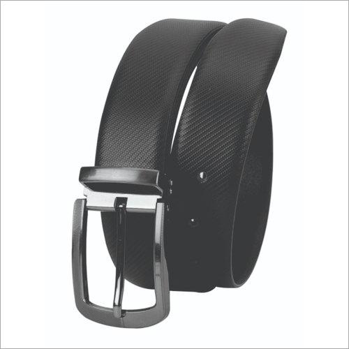 Fabbro Black Leather Belt Gender: Male