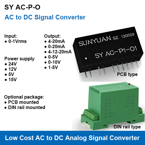 SY AC-P-O AC to DC Analog Signal Transmitters