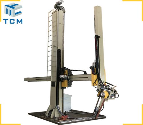 Steel vertical tank automatic polishing machine