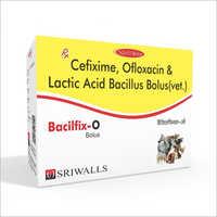 Cefixime - Ofloxacin & Lactic Acid Bacillus Bolus