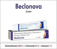 Beclomethasone  0.025% +  Neomycin  0.5% + Clotrimazole 1% + Chlorocresol 0.1%
