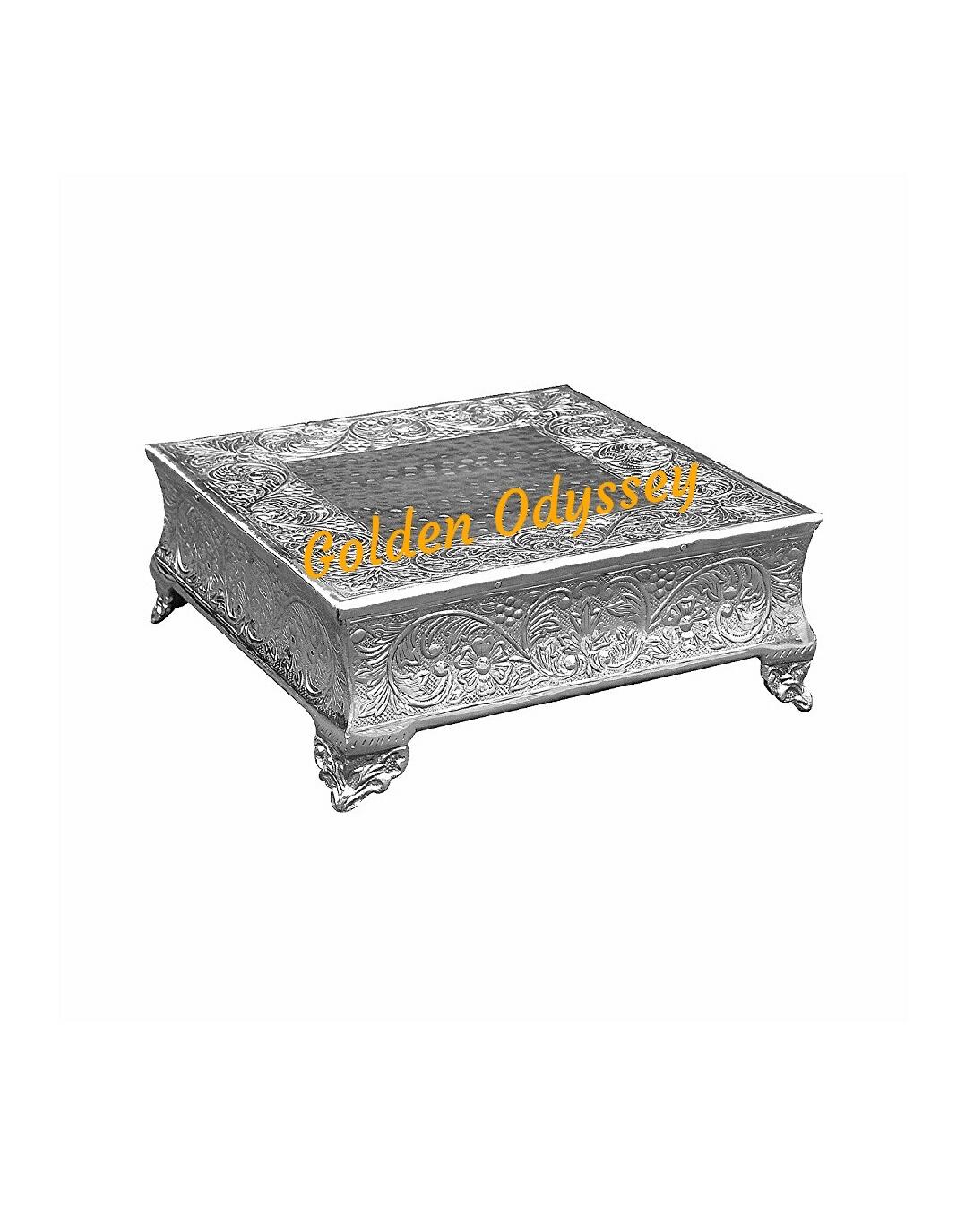 Aluminium Embossed  Wedding Cake Stand