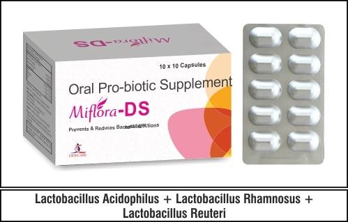 Lactobacillus Acidophilus + Lactobacillus Rhamnosus + Lactobacillus Reuteri