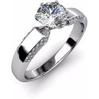 Ladies Designer CZ Silver Ring
