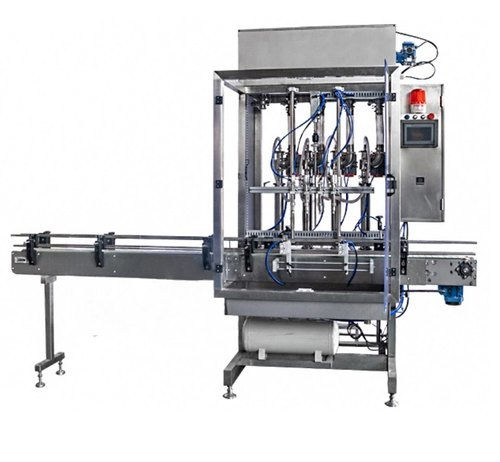 Fully Automatic Pneumatic Piston Based Liquid Filling Machine