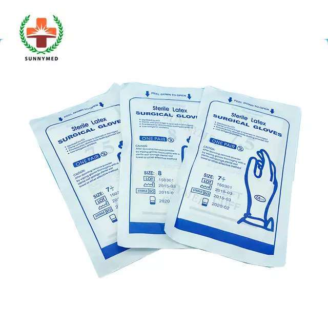Latex Examination Hand Medical Glove for Hospital