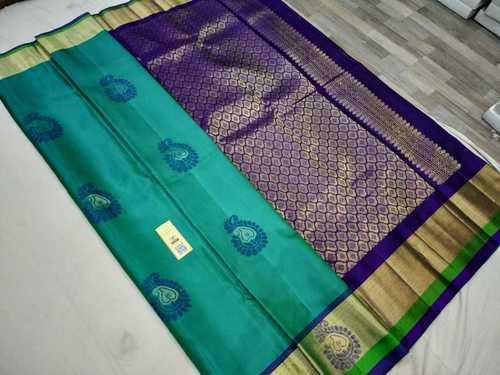 pure silk meena butta with border