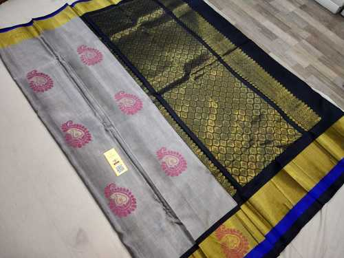 pure silk saree with meena butta
