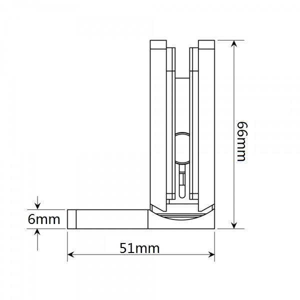 Wall to Glass Shower Hinge Side Plate hidden screws