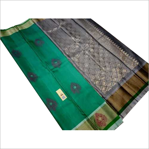 pure silk saree double warp silk with meena butta