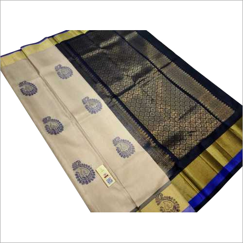 pure silk double warp saree with meena butta