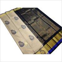 pure silk double warp saree with meena butta