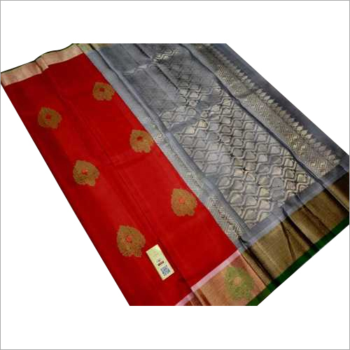 pure silk meena butta double warp silk saree