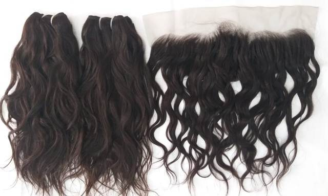 Best Quality Top Selling Wavy Indian Hair ,Unprocessed Wavy Human Hair