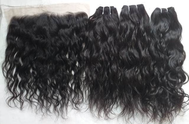 Virgin Black Wavy Raw Unprocessed Human Hair