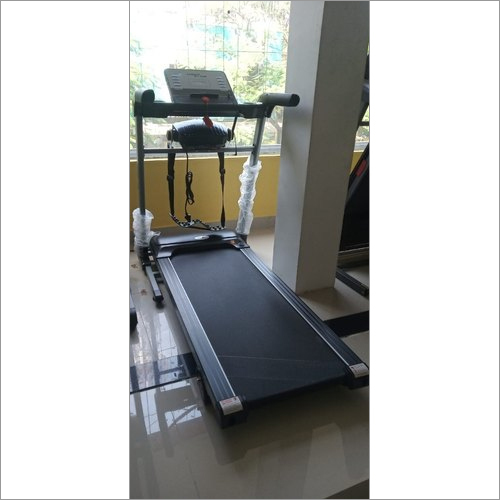 5 in 1  Rubber Round Cardio World Motorized Treadmill