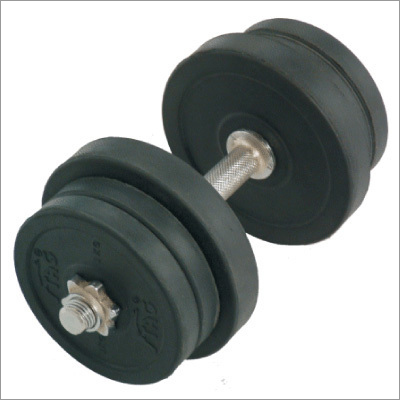 30Kg Round Black  Adjustable Rubber Dumbbells