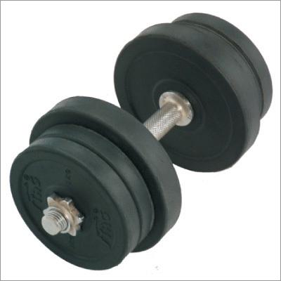 30Kg Round Black  Adjustable Rubber Dumbbells
