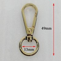 Metal alloy dog hook for bag accessories