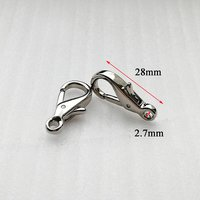 28*2.7mm Metal alloy dog hook for bag accessories  HD396-19