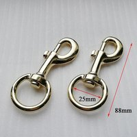 88*25mm high quality round metal alloy dog hook for handbag Accessories