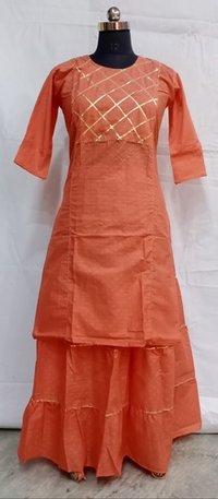 Cotton Kurti Skirt Set
