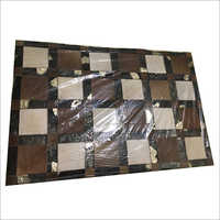 Hair On Foil Leather Foot Mat