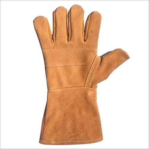 Plain Chrome  Leather Reversible Safety  Gloves