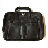 Genuine Leather Laptop Bag - Three Compartment