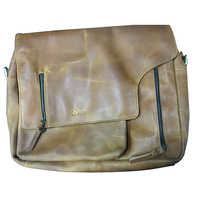 Genuine Leather Laptop Bag -  One Compartment