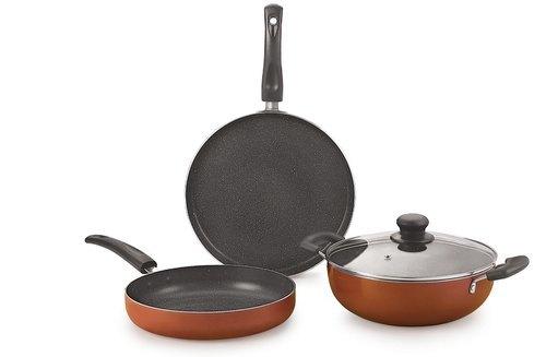 Nirlon Brownie Granite Cookware Set Gift Set