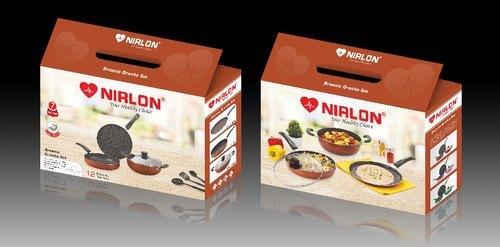 Nirlon Brownie Granite Cookware Gift Set