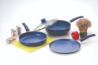 Nirlon Bling Blue Cookware Set