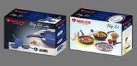 Nirlon Bling Blue Cookware Set