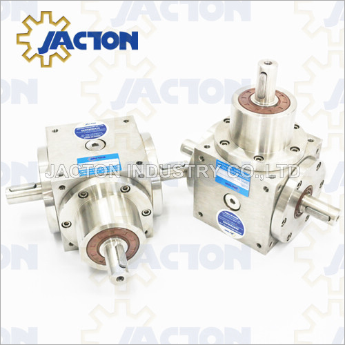 BSS90 Corrosion-Resistant 1: 1 T Gear Boxes, Compact Stainless Steel 3: 1 Bevel Gearbox Right Angle