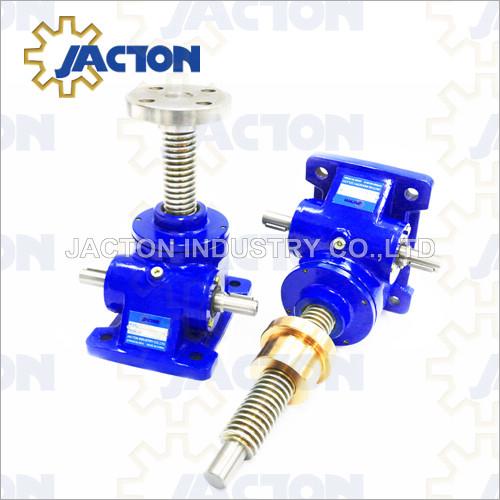 10 Tonne worm gear machine screw jacks 2 gear ratios and 1 screw lead as standard