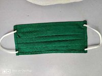 Green cotton reusable washable mask