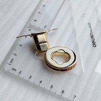 28*22mm Shining Light Gold Oval Shape Swivel Lock for Handbag Accessory HD247-19