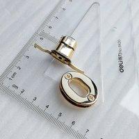 28*22mm Shining Light Gold Oval Shape Swivel Lock for Handbag Accessory HD247-19