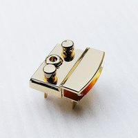 35*33mm Fashion Metal Gold Color Push Key Lock for Purse Leather Bags HD254-19
