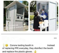 Medical testing booth