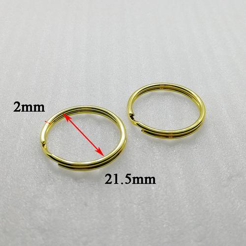 ID21.5mm Customized Metal Gold Iron Round Split Key Chain Ring  HD234-19