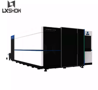High power 6000w cnc metal sheet fiber laser cutting machine with protective cover
