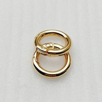 ID13mm Fashion Metal Gold O Shape Key Clasp Ring for Bag Accessories HD203-19