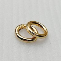 ID13mm Fashion Metal Gold O Shape Key Clasp Ring for Bag Accessories HD203-19