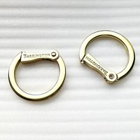 Custom Design Logo Aolly Metal O Spring Ring Bag Ring HD327-19