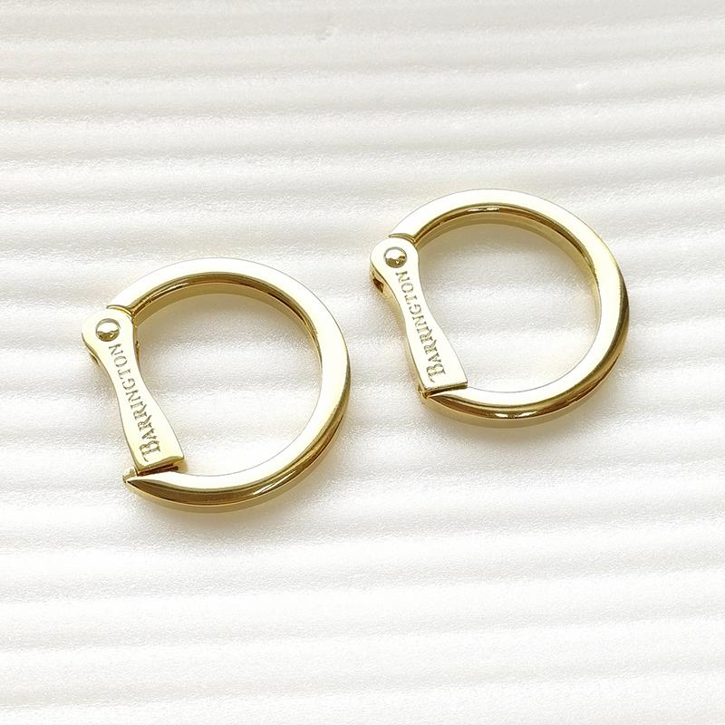 Custom Design Logo Aolly Metal O Spring Ring Bag Ring HD327-19