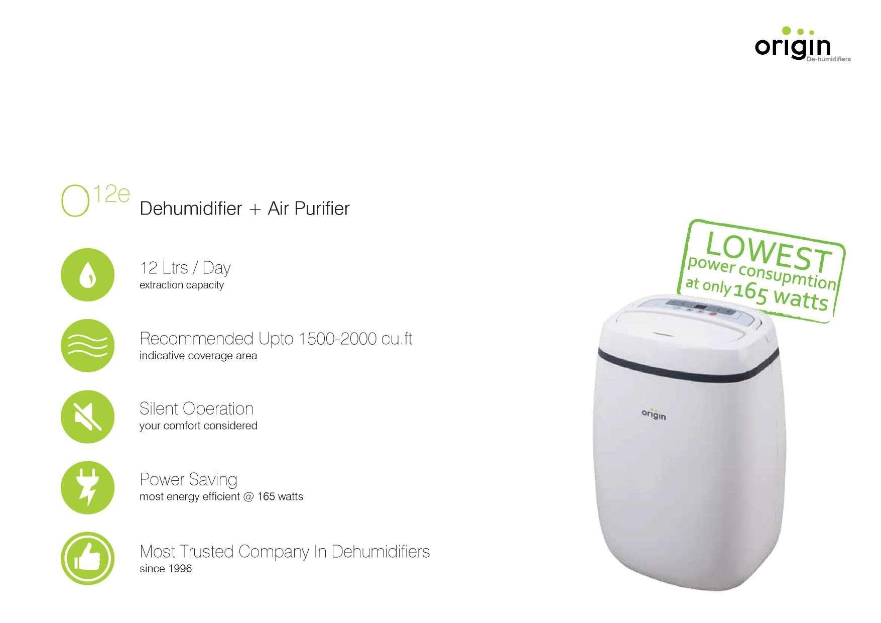 12Lit Compact Portable Dehumidifier