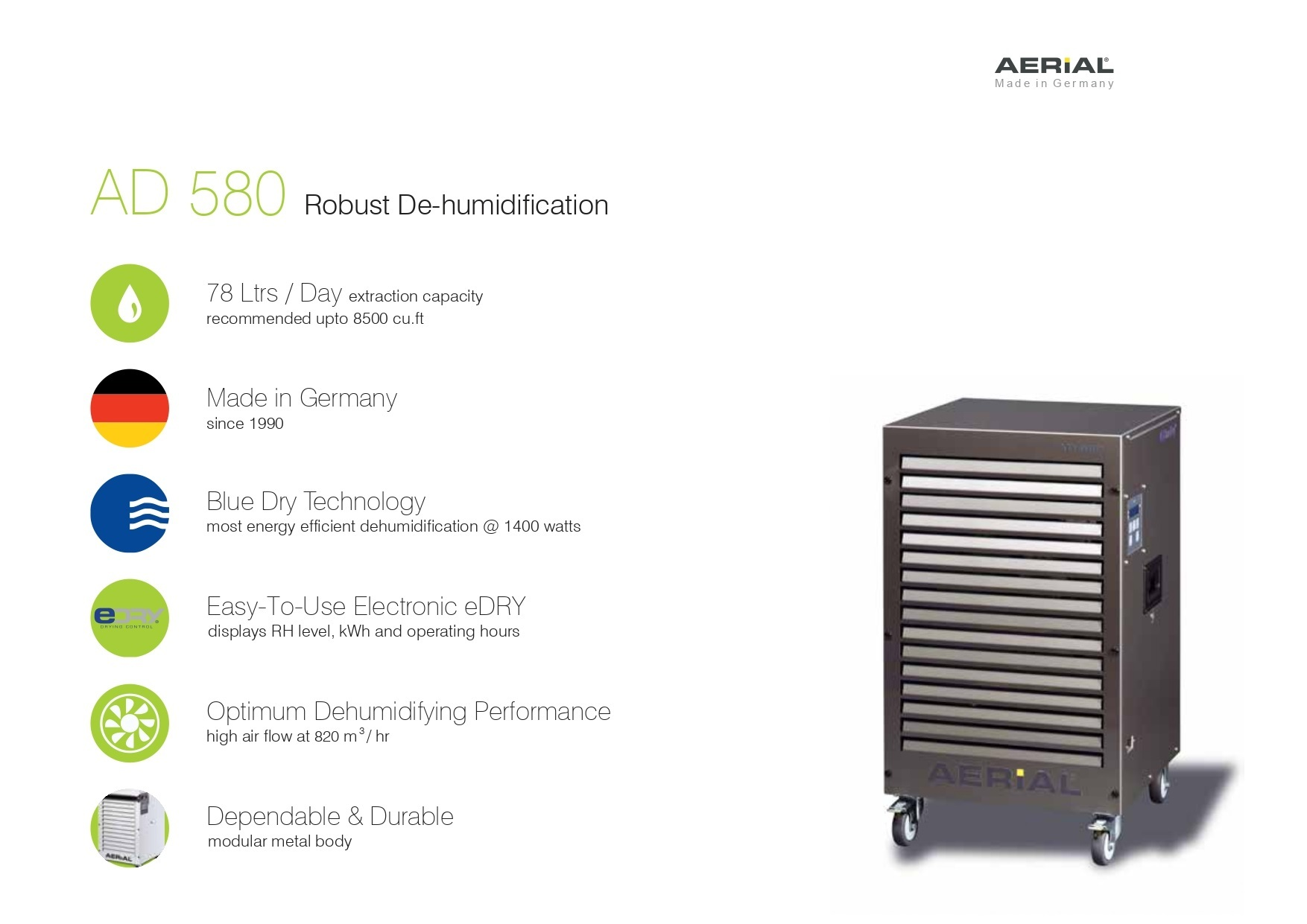 Metal Body Portable Industrial Dehumidifier