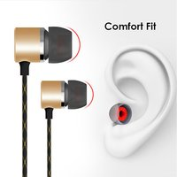 pTron Flux In-Ear Metal Stereo Sound Wired Earphones with Mic